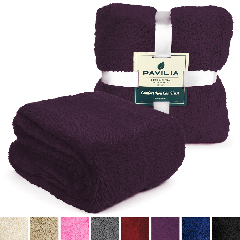Soft-Fuzzy-Warm-Cozy-Throw-Blanket-with-Fluffy-Sherpa-Fleece-for-Sofa-Couch-Bed thumbnail 63