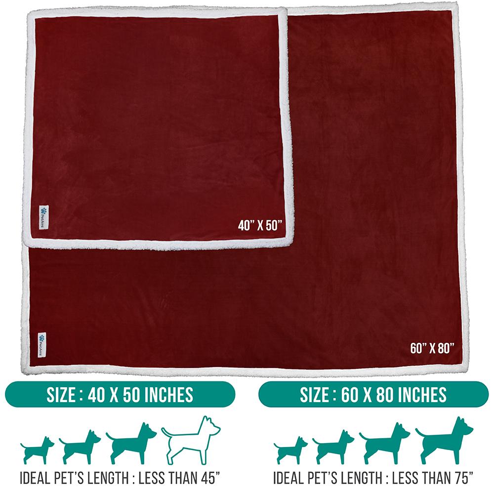 thumbnail 93 - Dog Blanket for Medium Large Dogs Pet Soft Fleece Durable Warm Sherpa Reversible