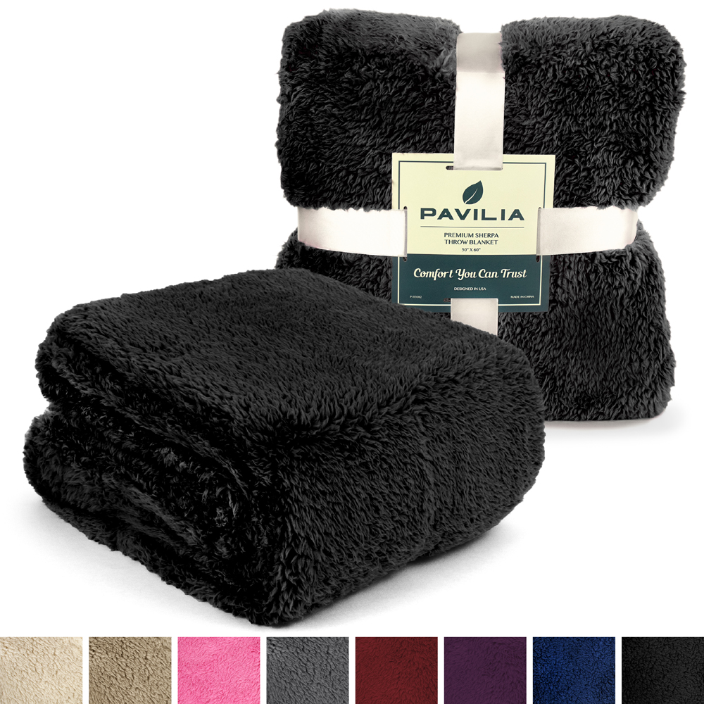 Soft-Fuzzy-Warm-Cozy-Throw-Blanket-with-Fluffy-Sherpa-Fleece-for-Sofa-Couch-Bed thumbnail 3