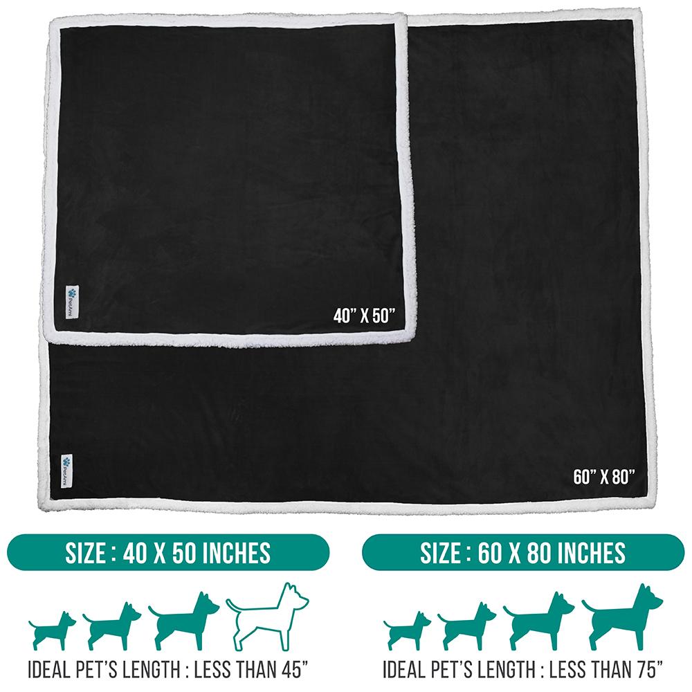 thumbnail 7 - Dog Blanket for Medium Large Dogs Pet Soft Fleece Durable Warm Sherpa Reversible