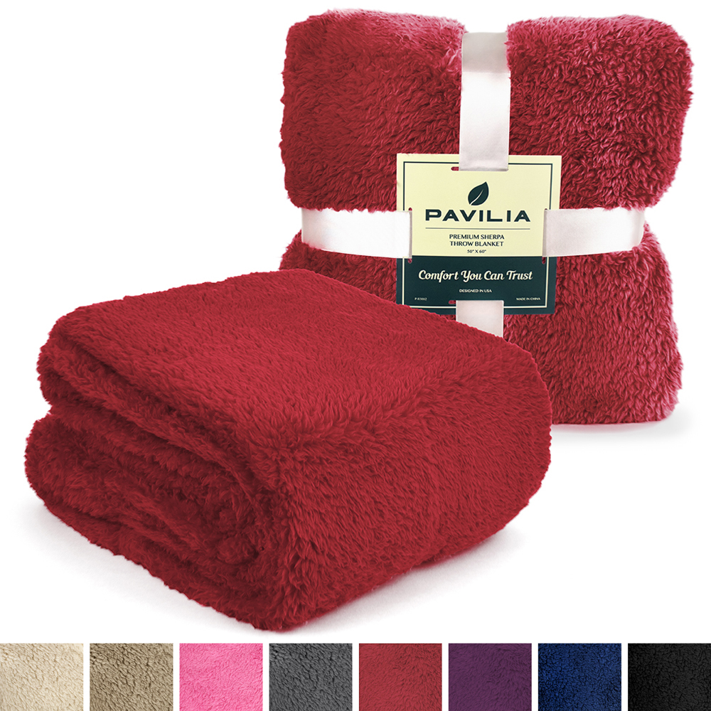 Soft-Fuzzy-Warm-Cozy-Throw-Blanket-with-Fluffy-Sherpa-Fleece-for-Sofa-Couch-Bed thumbnail 91
