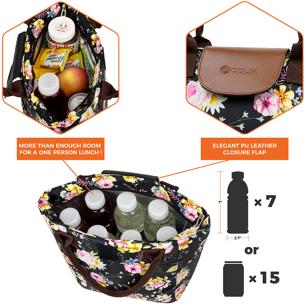 miniature 34 - Lunch Bag for Women Thermal Insulated Lunch Food Tote Purse Work Office Picnic
