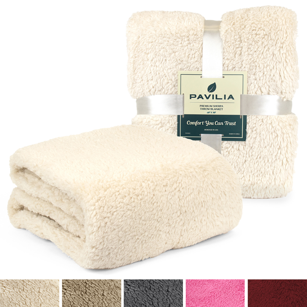 Soft-Fuzzy-Warm-Cozy-Throw-Blanket-with-Fluffy-Sherpa-Fleece-for-Sofa-Couch-Bed thumbnail 44