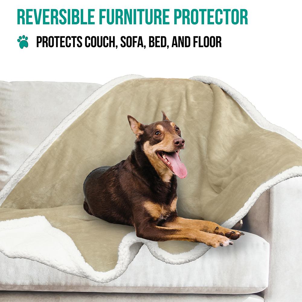 thumbnail 76 - Dog Blanket for Medium Large Dogs Pet Soft Fleece Durable Warm Sherpa Reversible