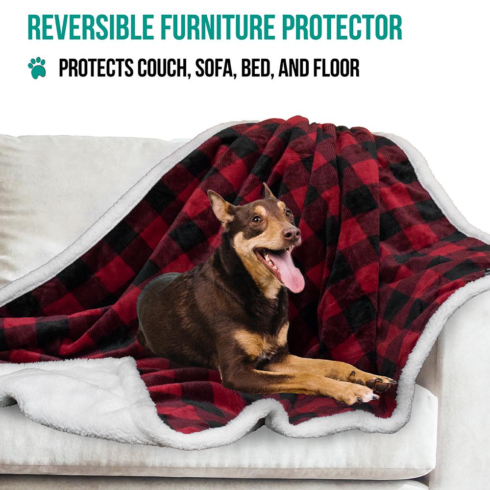 thumbnail 32 - Dog Blanket for Medium Large Dogs Pet Soft Fleece Durable Warm Sherpa Reversible