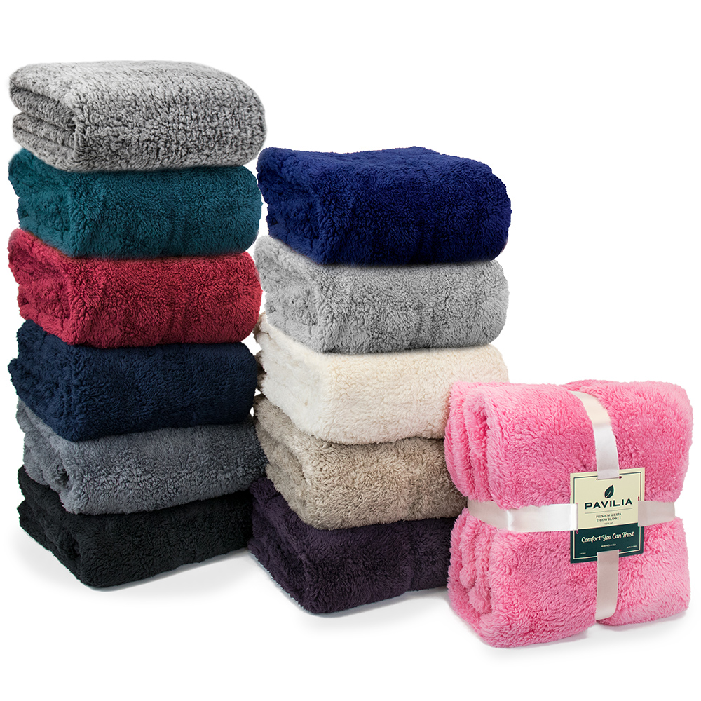 Soft-Fuzzy-Warm-Cozy-Throw-Blanket-with-Fluffy-Sherpa-Fleece-for-Sofa-Couch-Bed thumbnail 33