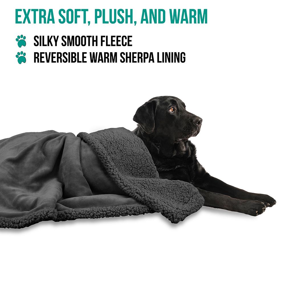 thumbnail 38 - Dog Blanket for Medium Large Dogs Pet Soft Fleece Durable Warm Sherpa Reversible