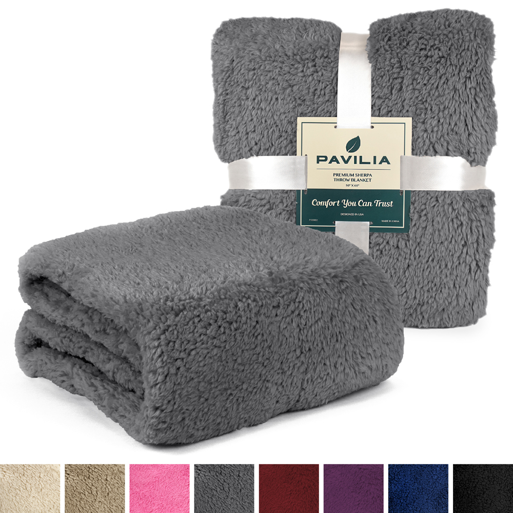 Soft-Fuzzy-Warm-Cozy-Throw-Blanket-with-Fluffy-Sherpa-Fleece-for-Sofa-Couch-Bed thumbnail 20