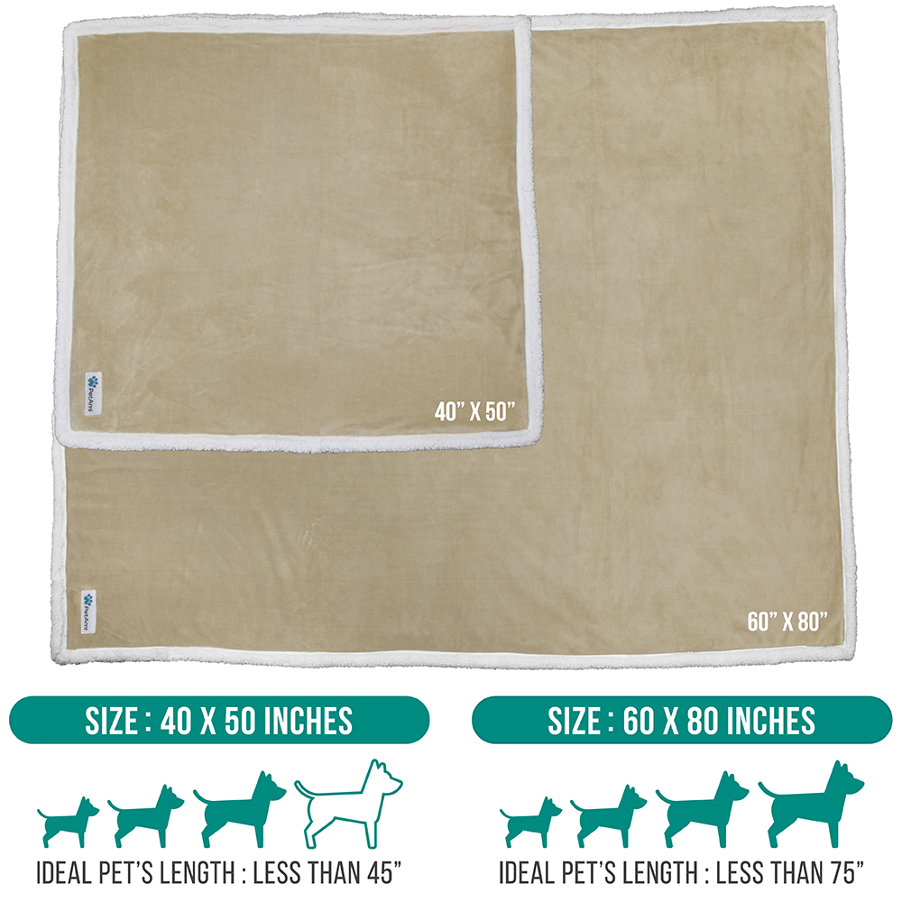 thumbnail 79 - Dog Blanket for Medium Large Dogs Pet Soft Fleece Durable Warm Sherpa Reversible