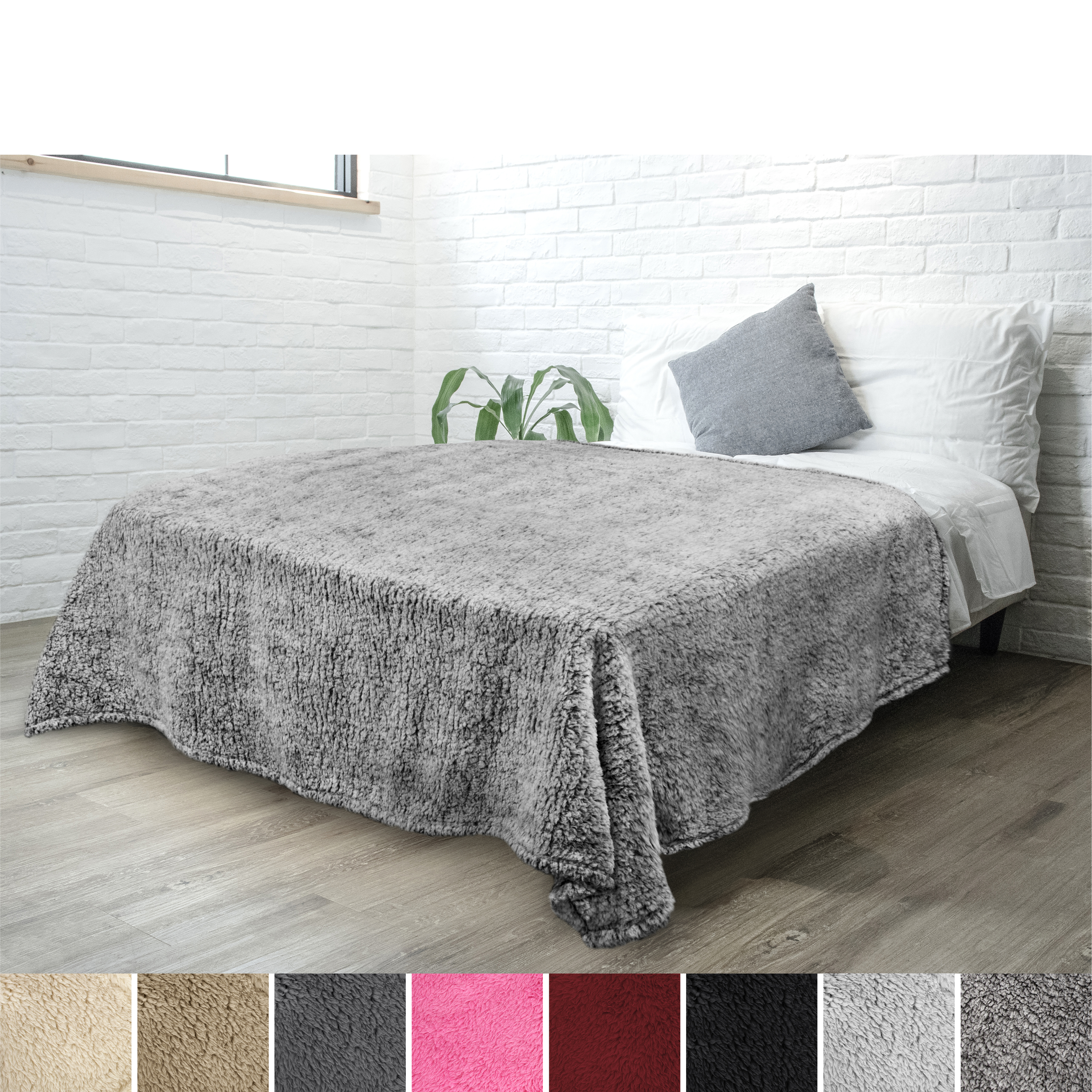 Soft-Fuzzy-Warm-Cozy-Throw-Blanket-with-Fluffy-Sherpa-Fleece-for-Sofa-Couch-Bed thumbnail 35
