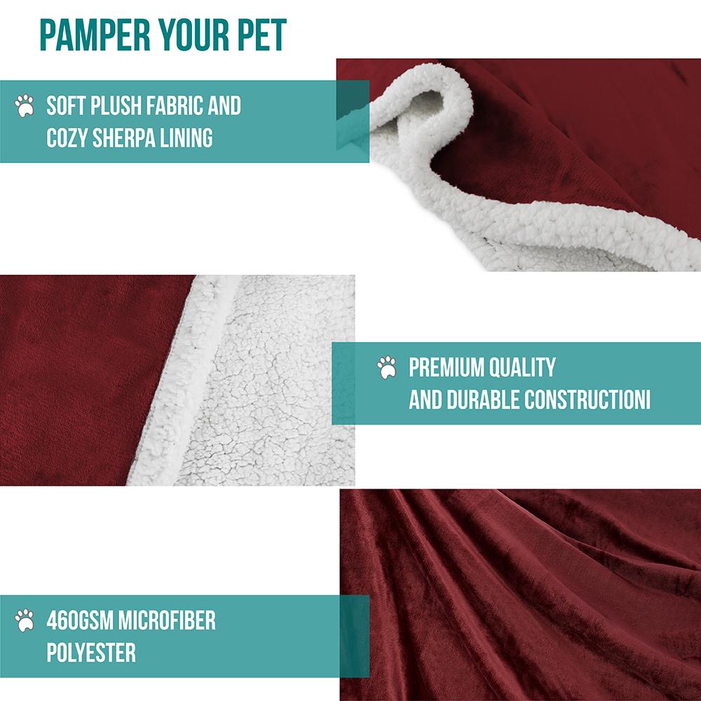 thumbnail 92 - Dog Blanket for Medium Large Dogs Pet Soft Fleece Durable Warm Sherpa Reversible