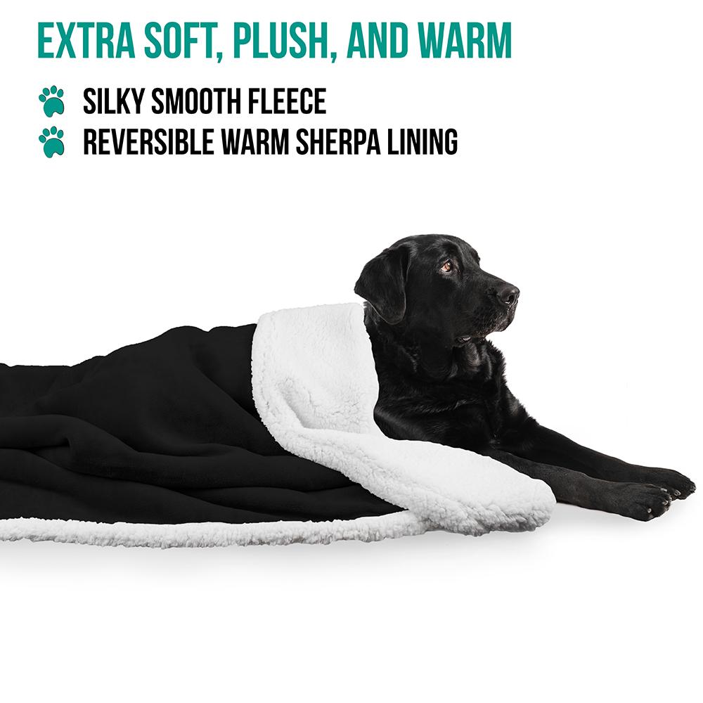 thumbnail 3 - Dog Blanket for Medium Large Dogs Pet Soft Fleece Durable Warm Sherpa Reversible