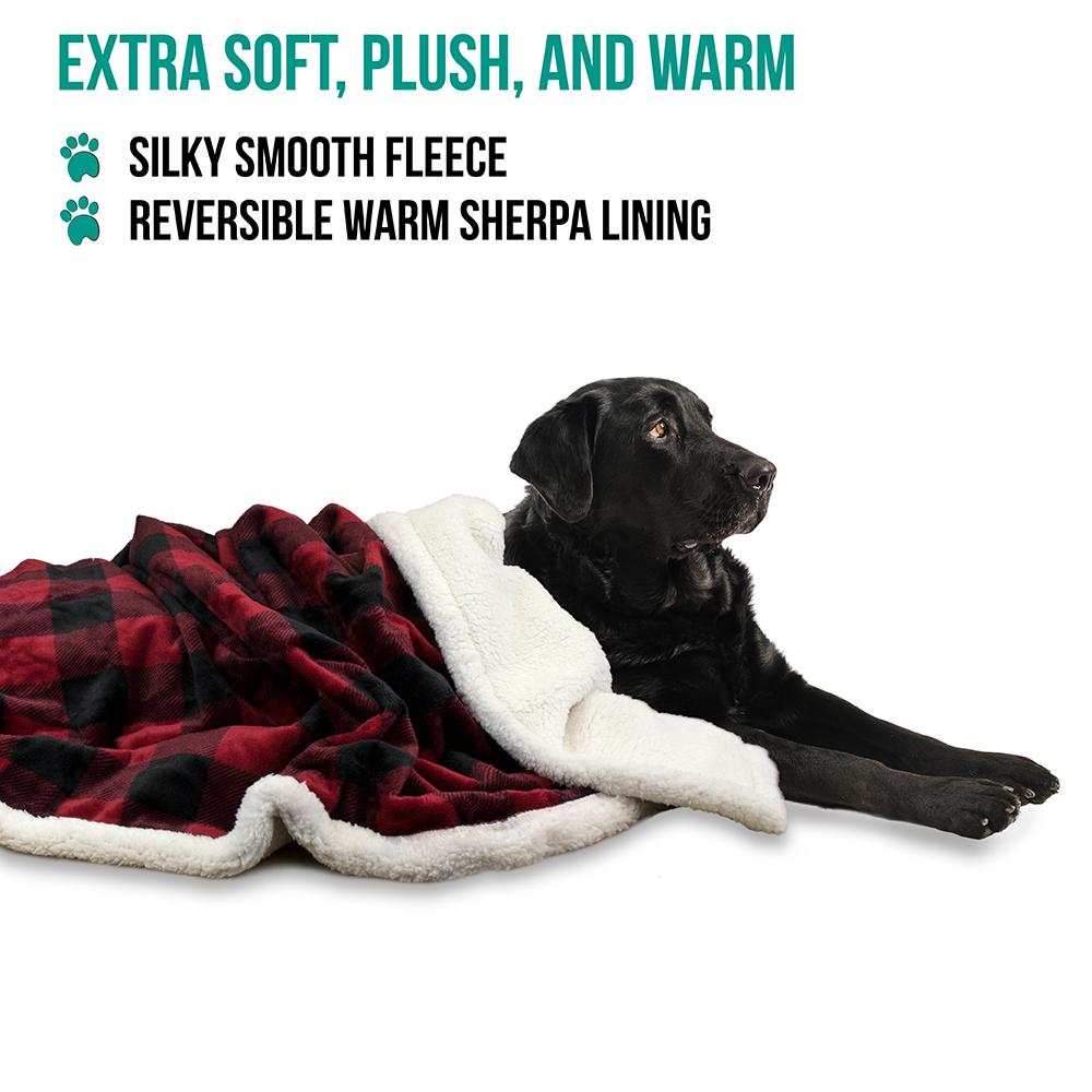 thumbnail 31 - Dog Blanket for Medium Large Dogs Pet Soft Fleece Durable Warm Sherpa Reversible
