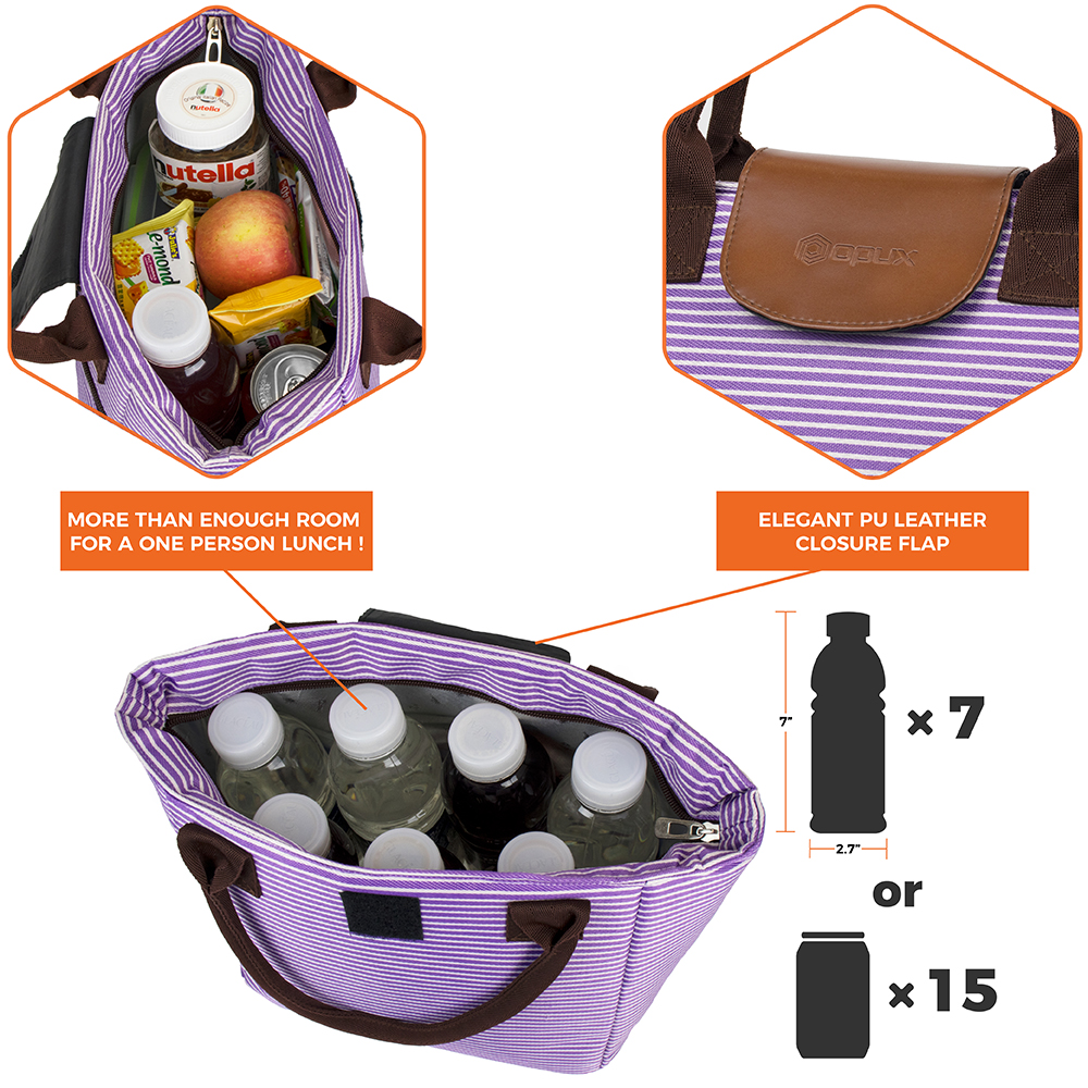 miniature 48 - Lunch Bag for Women Thermal Insulated Lunch Food Tote Purse Work Office Picnic
