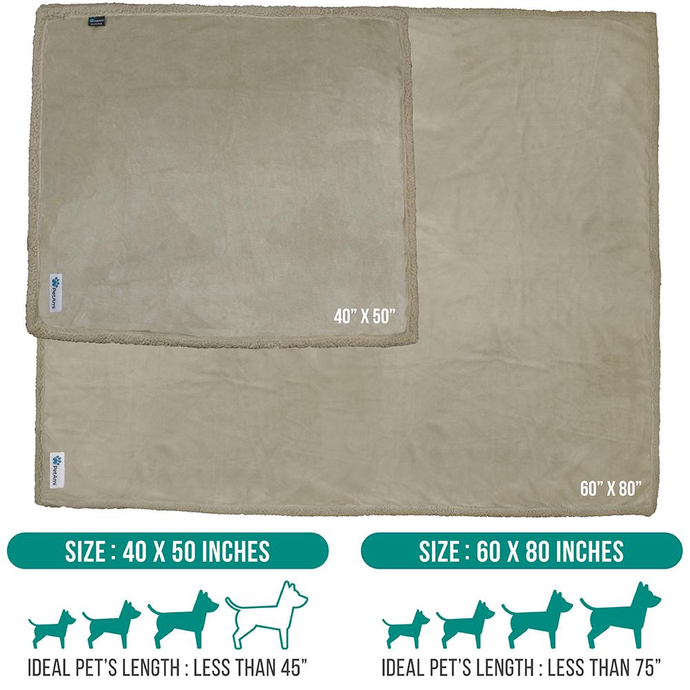 thumbnail 86 - Dog Blanket for Medium Large Dogs Pet Soft Fleece Durable Warm Sherpa Reversible