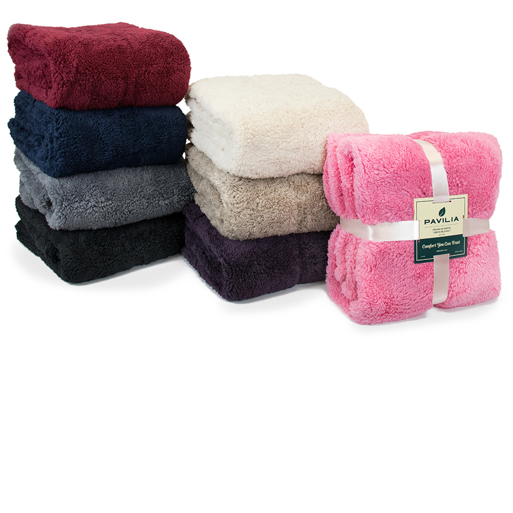 Soft-Fuzzy-Warm-Cozy-Throw-Blanket-with-Fluffy-Sherpa-Fleece-for-Sofa-Couch-Bed thumbnail 8