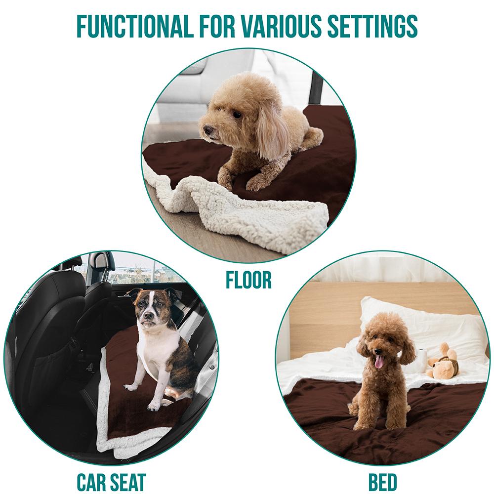 thumbnail 19 - Dog Blanket for Medium Large Dogs Pet Soft Fleece Durable Warm Sherpa Reversible
