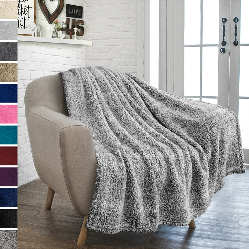 Soft-Fuzzy-Warm-Cozy-Throw-Blanket-with-Fluffy-Sherpa-Fleece-for-Sofa-Couch-Bed thumbnail 27
