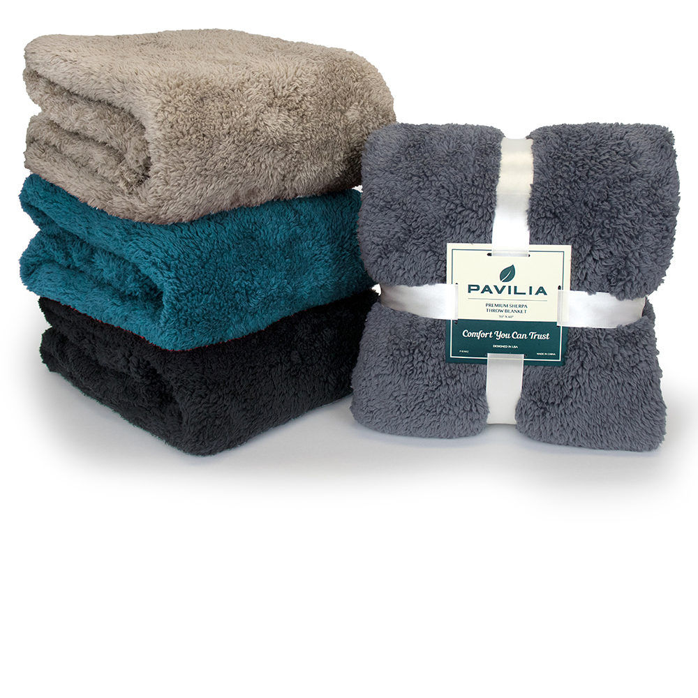 Soft-Fuzzy-Warm-Cozy-Throw-Blanket-with-Fluffy-Sherpa-Fleece-for-Sofa-Couch-Bed thumbnail 78