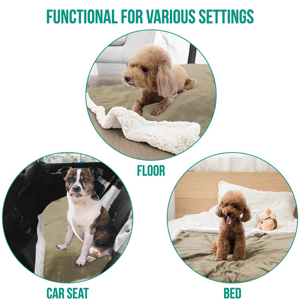 thumbnail 77 - Dog Blanket for Medium Large Dogs Pet Soft Fleece Durable Warm Sherpa Reversible