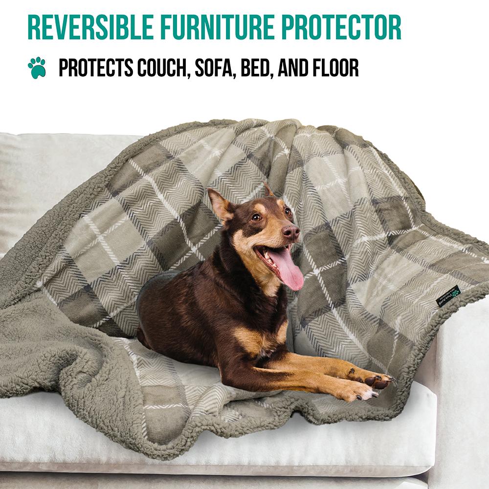 thumbnail 70 - Dog Blanket for Medium Large Dogs Pet Soft Fleece Durable Warm Sherpa Reversible