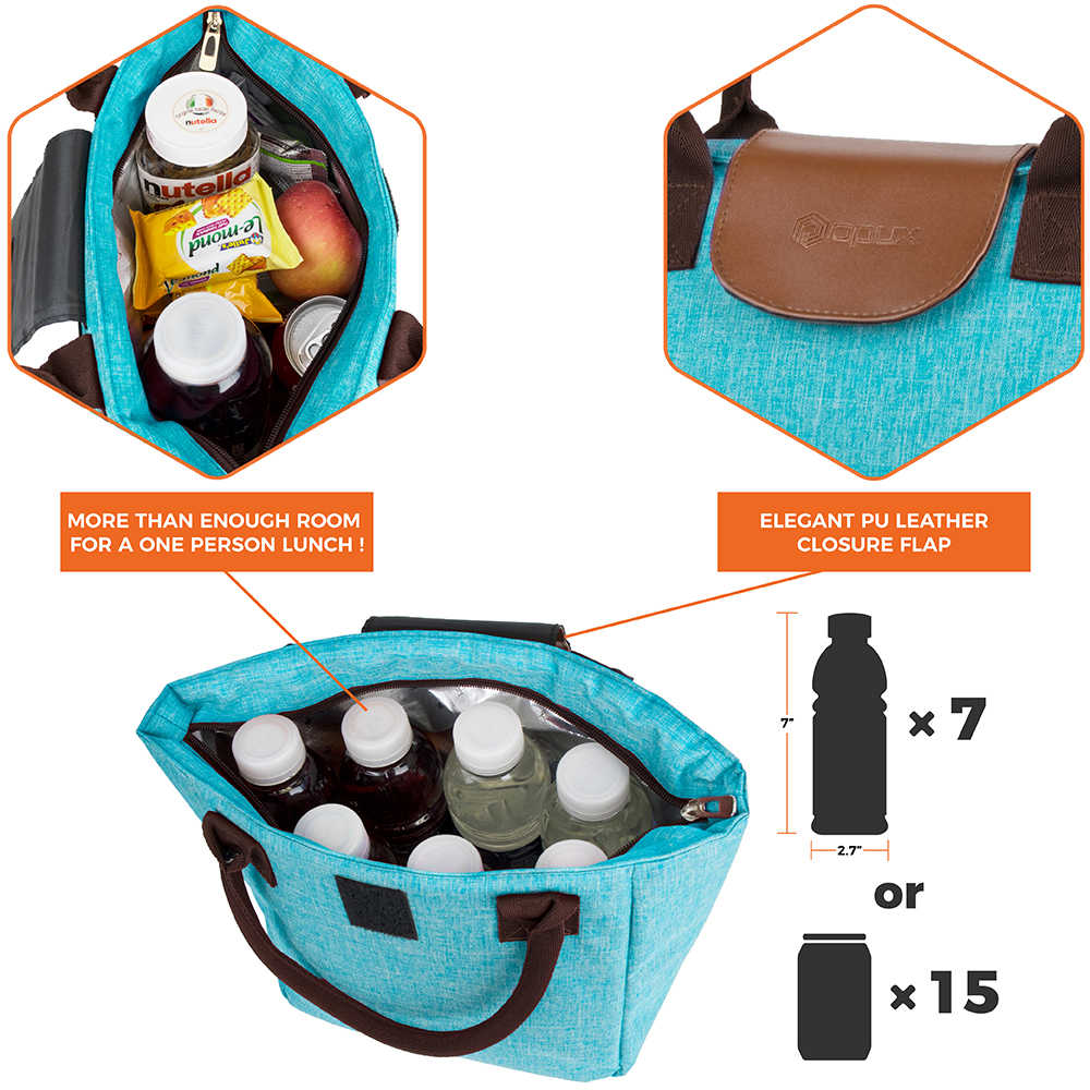 miniature 55 - Lunch Bag for Women Thermal Insulated Lunch Food Tote Purse Work Office Picnic