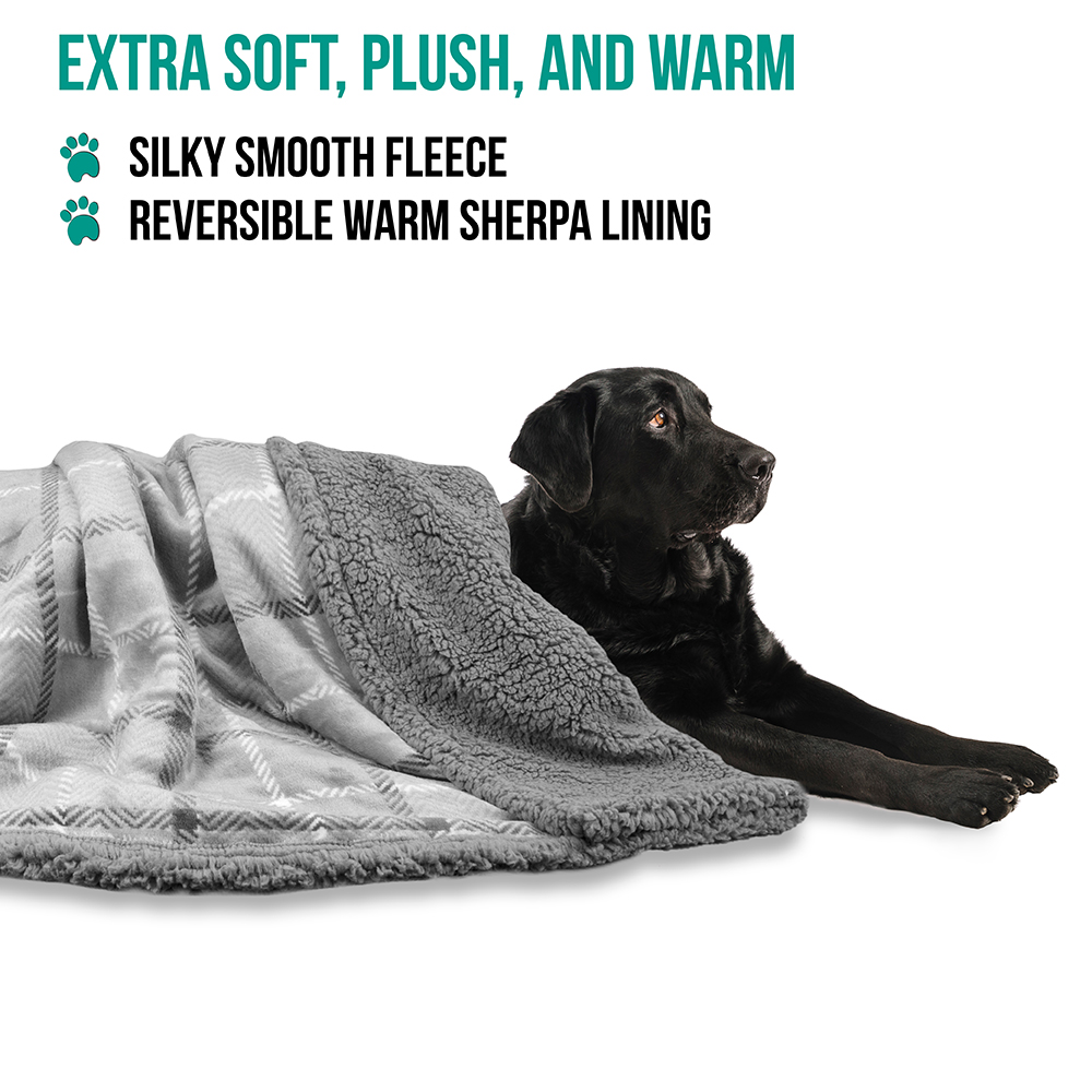 thumbnail 51 - Dog Blanket for Medium Large Dogs Pet Soft Fleece Durable Warm Sherpa Reversible