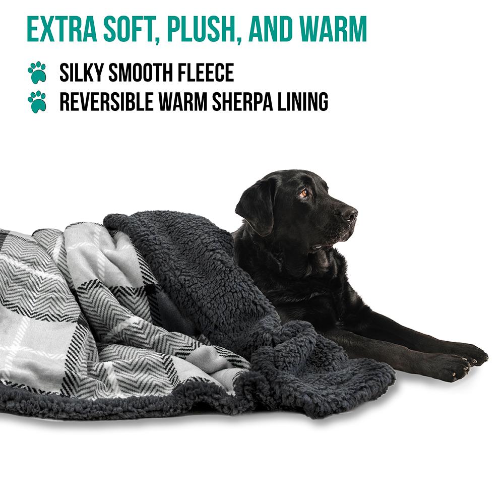 thumbnail 45 - Dog Blanket for Medium Large Dogs Pet Soft Fleece Durable Warm Sherpa Reversible
