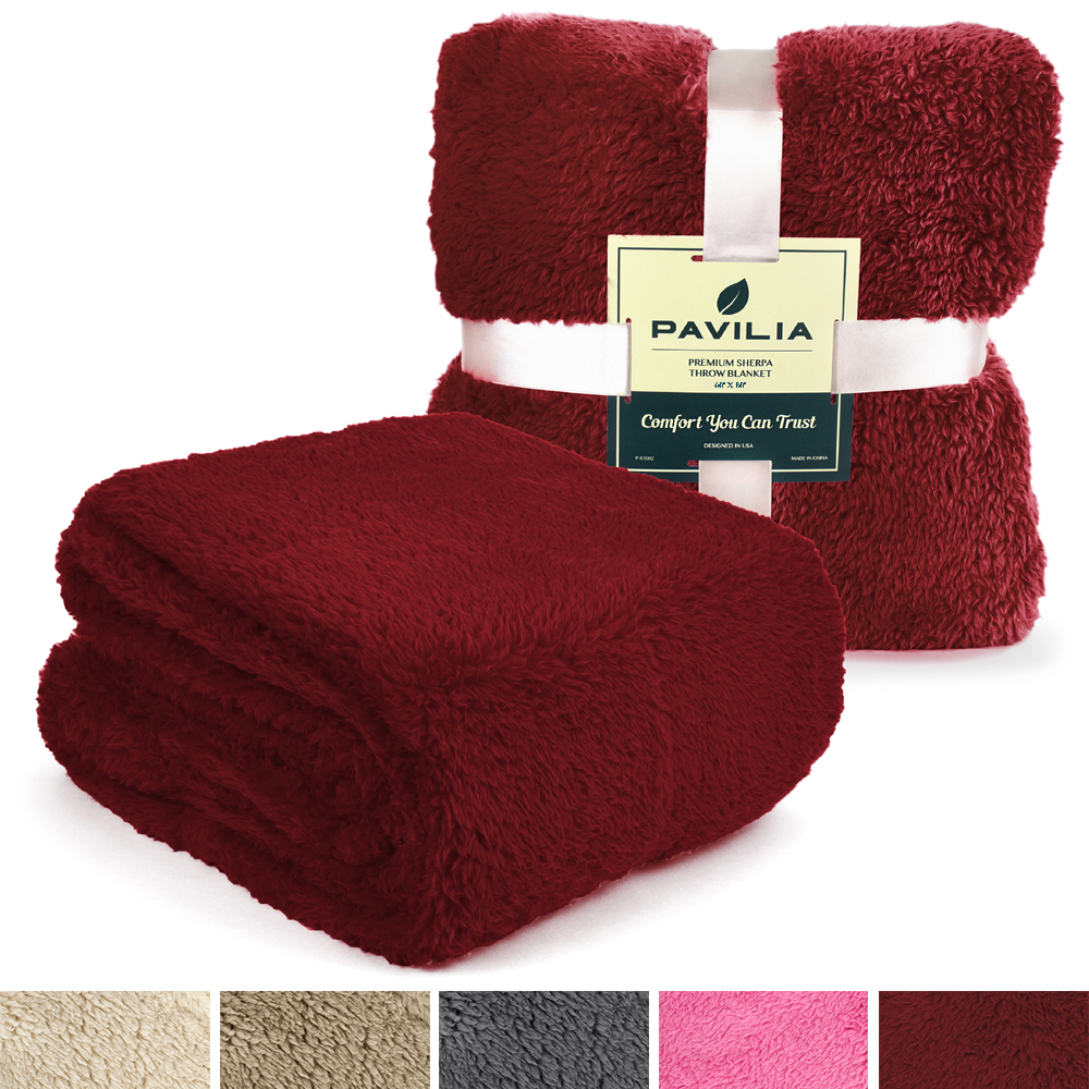 Soft-Fuzzy-Warm-Cozy-Throw-Blanket-with-Fluffy-Sherpa-Fleece-for-Sofa-Couch-Bed thumbnail 98