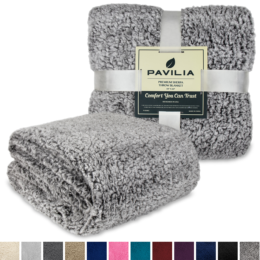 Soft-Fuzzy-Warm-Cozy-Throw-Blanket-with-Fluffy-Sherpa-Fleece-for-Sofa-Couch-Bed thumbnail 28