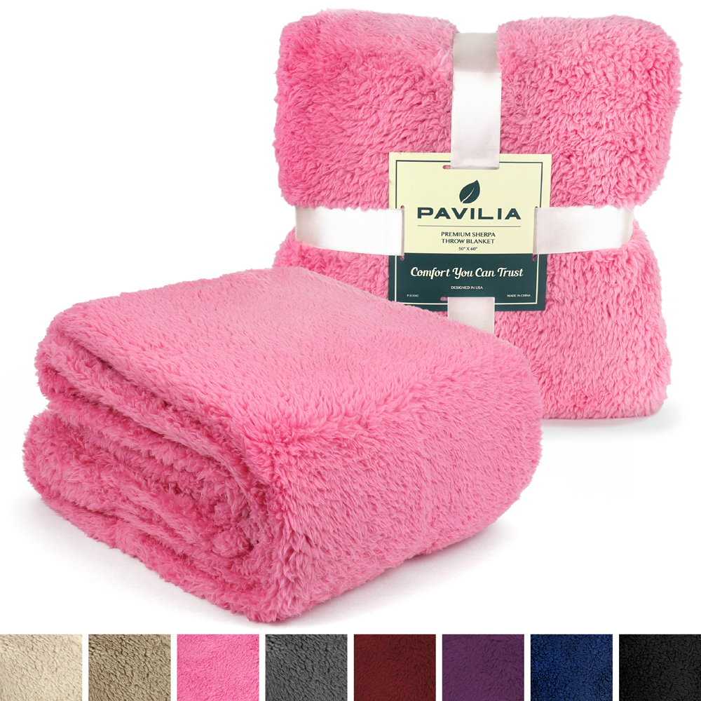 Soft-Fuzzy-Warm-Cozy-Throw-Blanket-with-Fluffy-Sherpa-Fleece-for-Sofa-Couch-Bed thumbnail 56