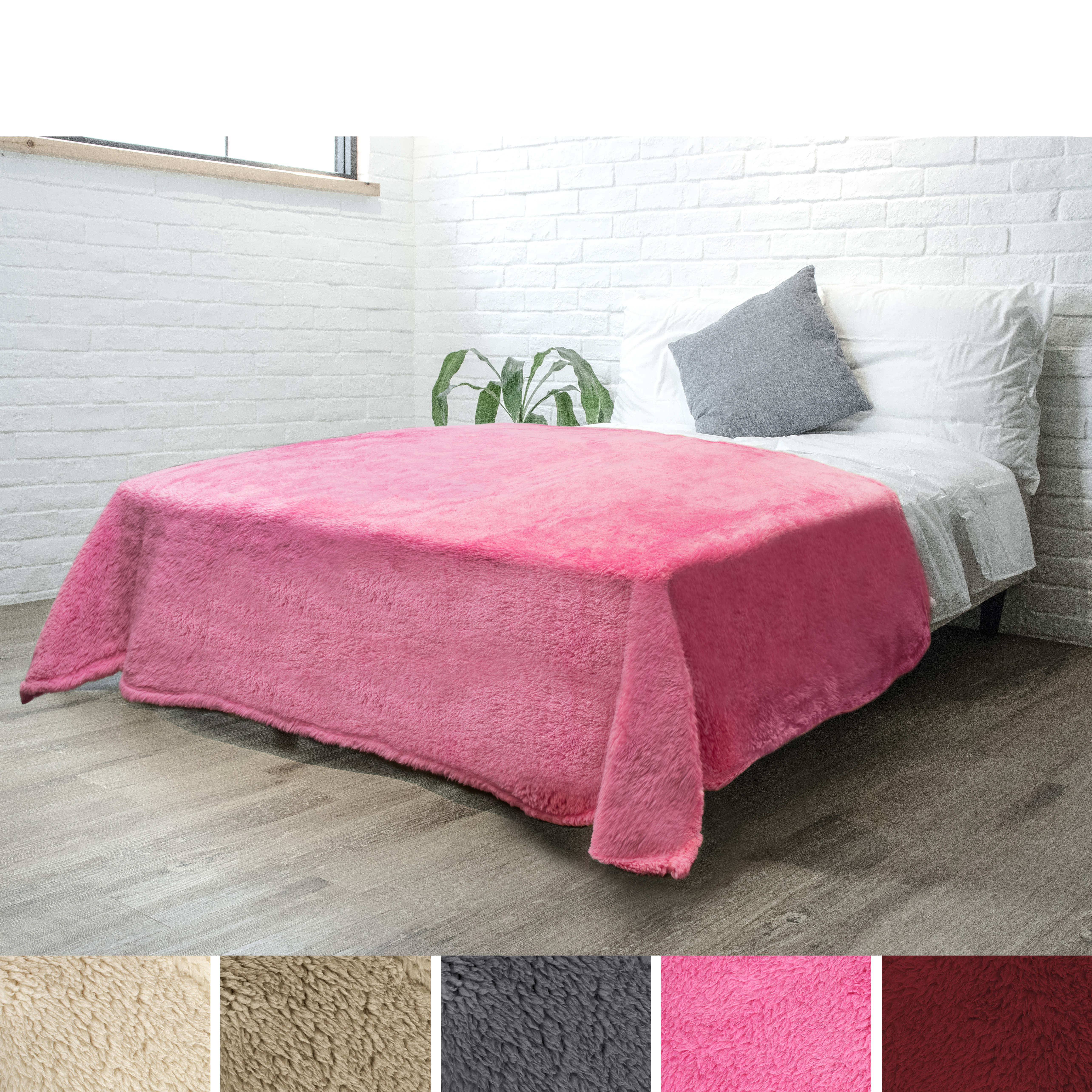 Soft-Fuzzy-Warm-Cozy-Throw-Blanket-with-Fluffy-Sherpa-Fleece-for-Sofa-Couch-Bed thumbnail 60