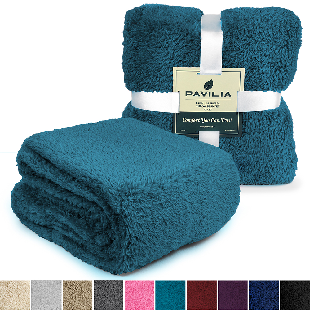 Soft-Fuzzy-Warm-Cozy-Throw-Blanket-with-Fluffy-Sherpa-Fleece-for-Sofa-Couch-Bed thumbnail 74