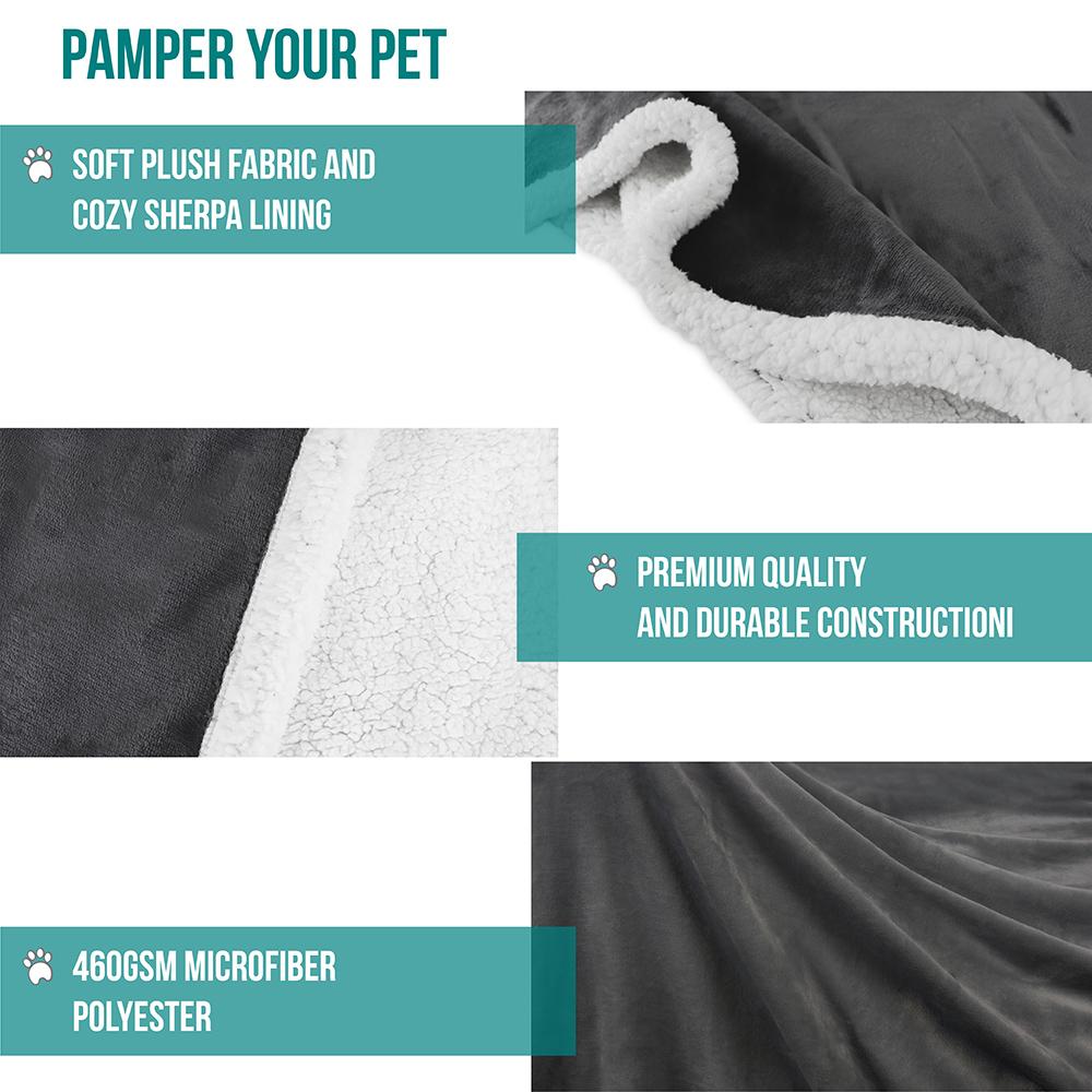 thumbnail 27 - Dog Blanket for Medium Large Dogs Pet Soft Fleece Durable Warm Sherpa Reversible