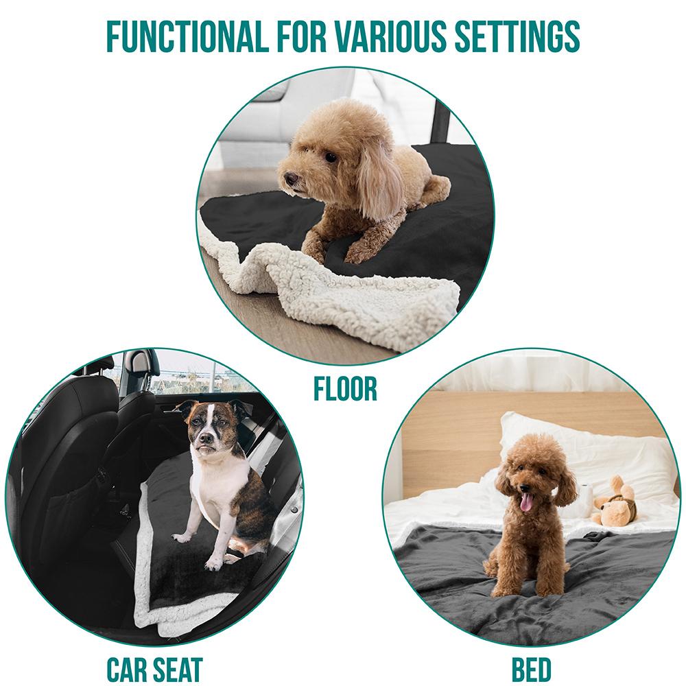 thumbnail 26 - Dog Blanket for Medium Large Dogs Pet Soft Fleece Durable Warm Sherpa Reversible