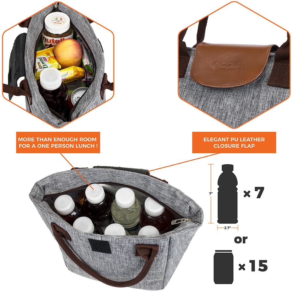miniature 20 - Lunch Bag for Women Thermal Insulated Lunch Food Tote Purse Work Office Picnic
