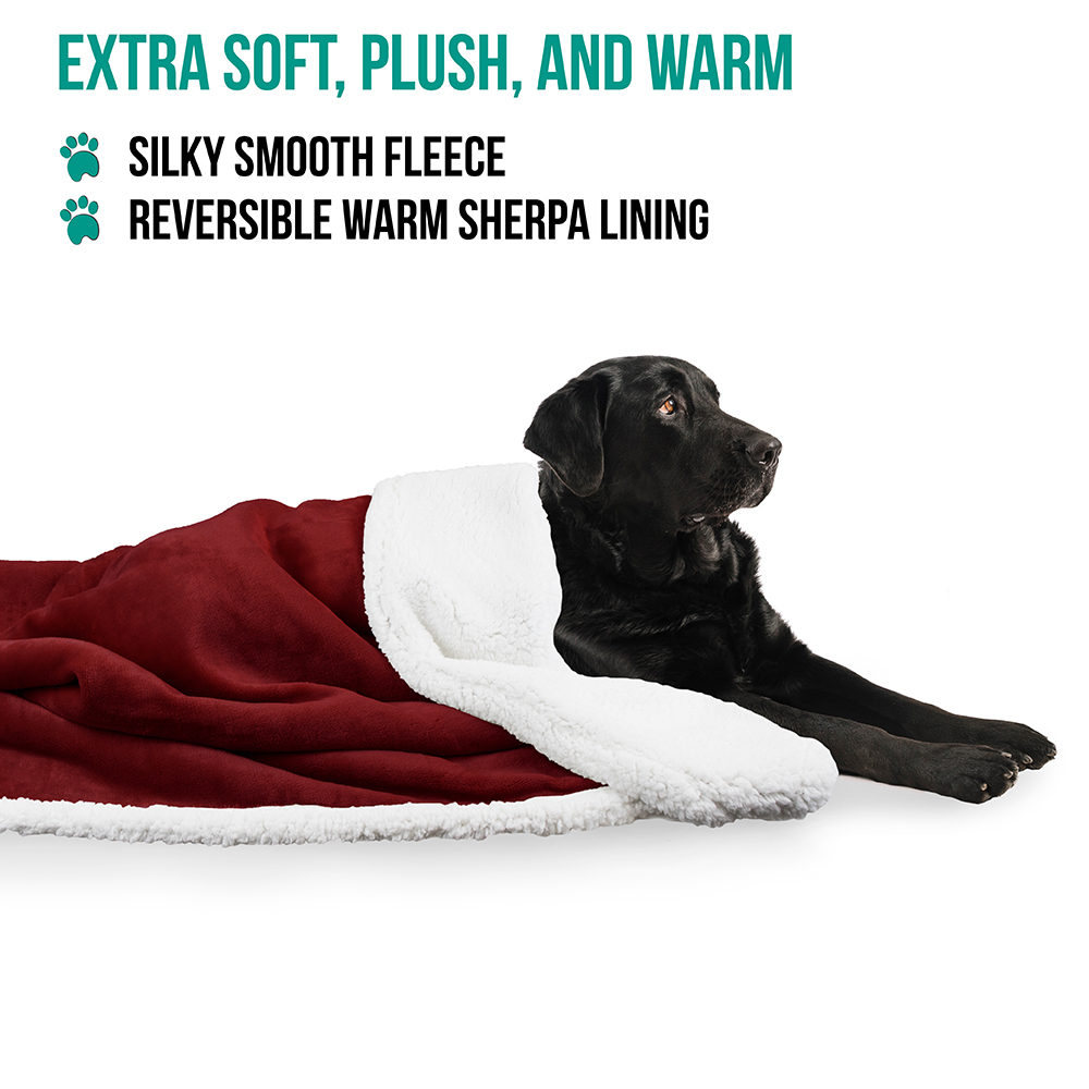 thumbnail 89 - Dog Blanket for Medium Large Dogs Pet Soft Fleece Durable Warm Sherpa Reversible