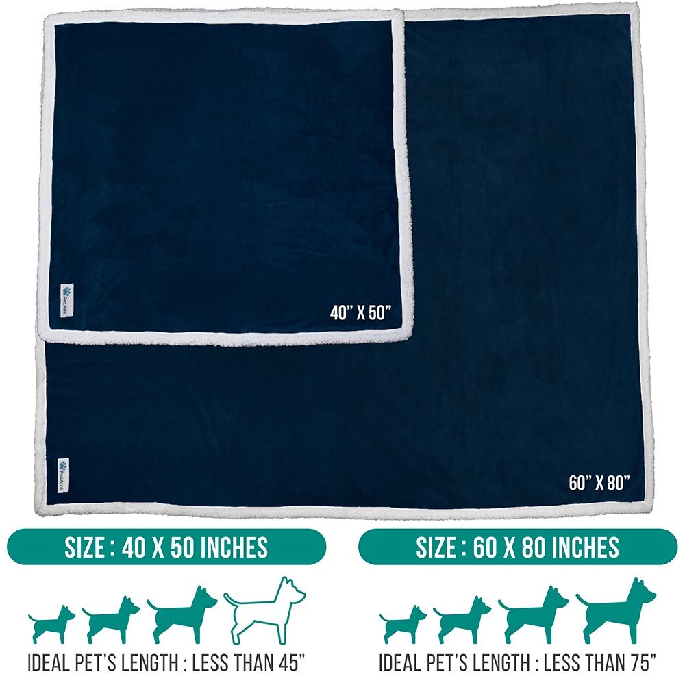 thumbnail 14 - Dog Blanket for Medium Large Dogs Pet Soft Fleece Durable Warm Sherpa Reversible