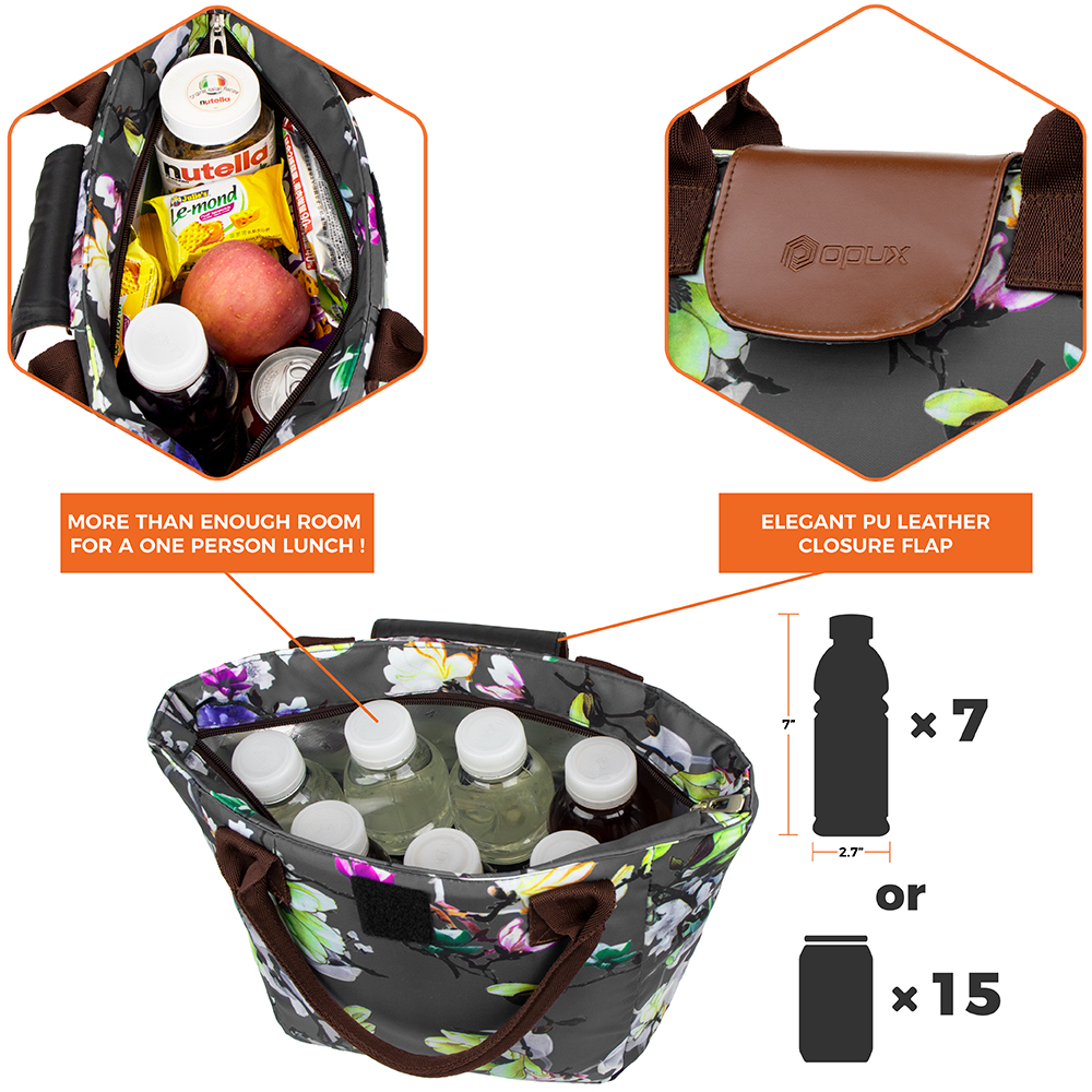 miniature 13 - Lunch Bag for Women Thermal Insulated Lunch Food Tote Purse Work Office Picnic