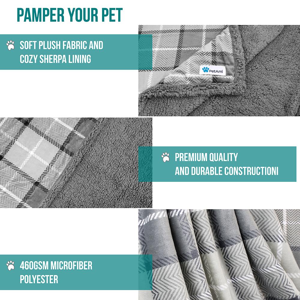 thumbnail 54 - Dog Blanket for Medium Large Dogs Pet Soft Fleece Durable Warm Sherpa Reversible