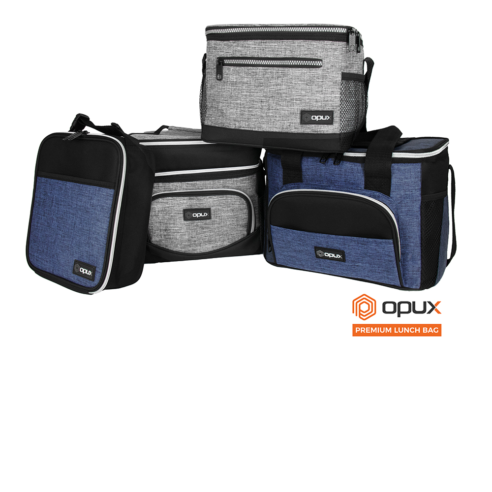 Insulated Dual Compartment Medium Lunch Bag for Adults Shoulder Strap Leakproof