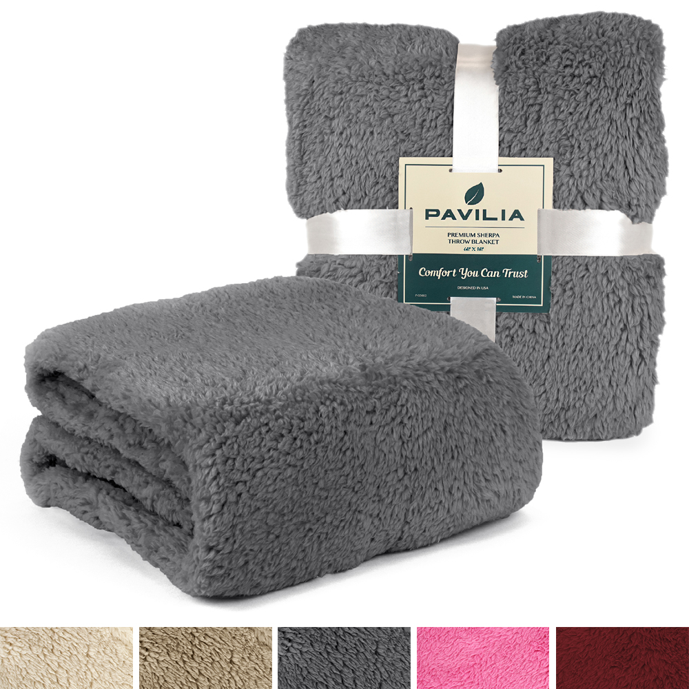 Soft-Fuzzy-Warm-Cozy-Throw-Blanket-with-Fluffy-Sherpa-Fleece-for-Sofa-Couch-Bed thumbnail 25