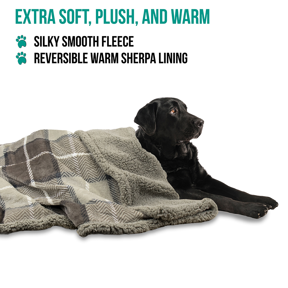 thumbnail 69 - Dog Blanket for Medium Large Dogs Pet Soft Fleece Durable Warm Sherpa Reversible