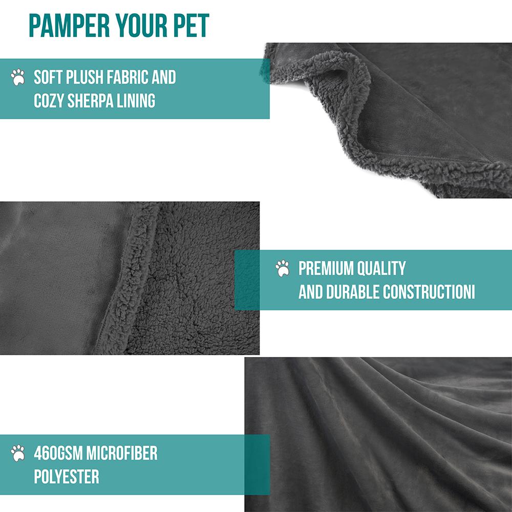 thumbnail 41 - Dog Blanket for Medium Large Dogs Pet Soft Fleece Durable Warm Sherpa Reversible