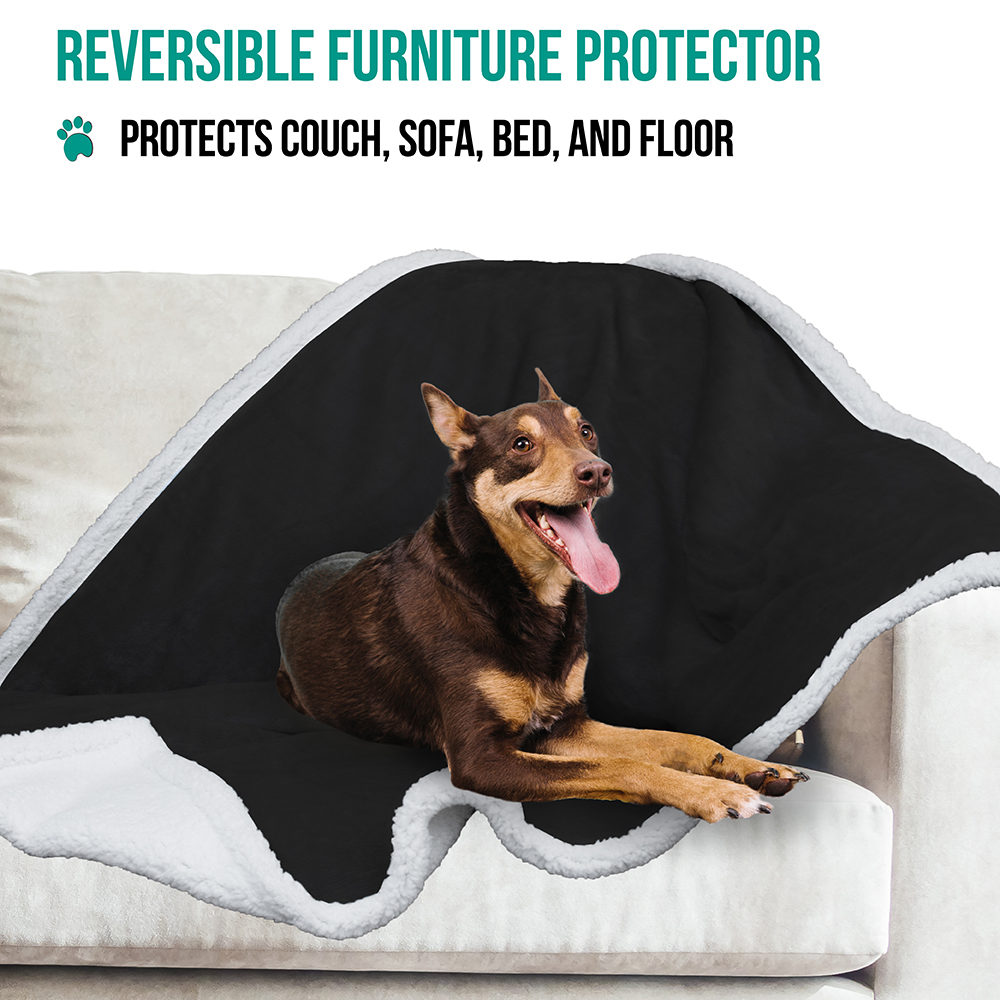 thumbnail 4 - Dog Blanket for Medium Large Dogs Pet Soft Fleece Durable Warm Sherpa Reversible