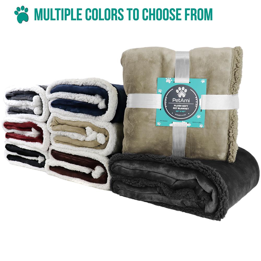 thumbnail 80 - Dog Blanket for Medium Large Dogs Pet Soft Fleece Durable Warm Sherpa Reversible