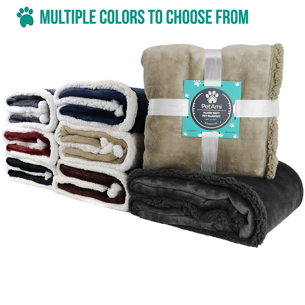 thumbnail 94 - Dog Blanket for Medium Large Dogs Pet Soft Fleece Durable Warm Sherpa Reversible