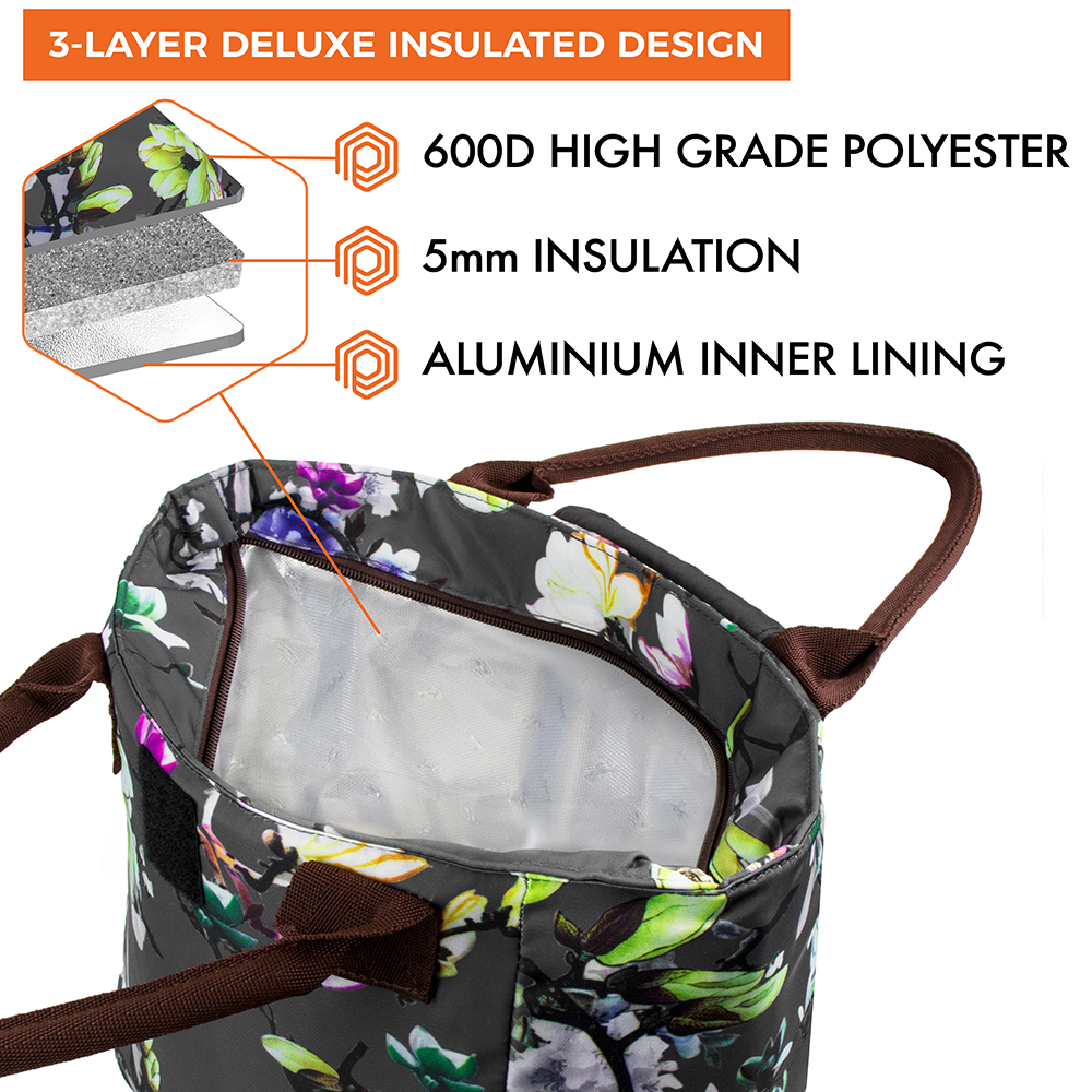 miniature 12 - Lunch Bag for Women Thermal Insulated Lunch Food Tote Purse Work Office Picnic
