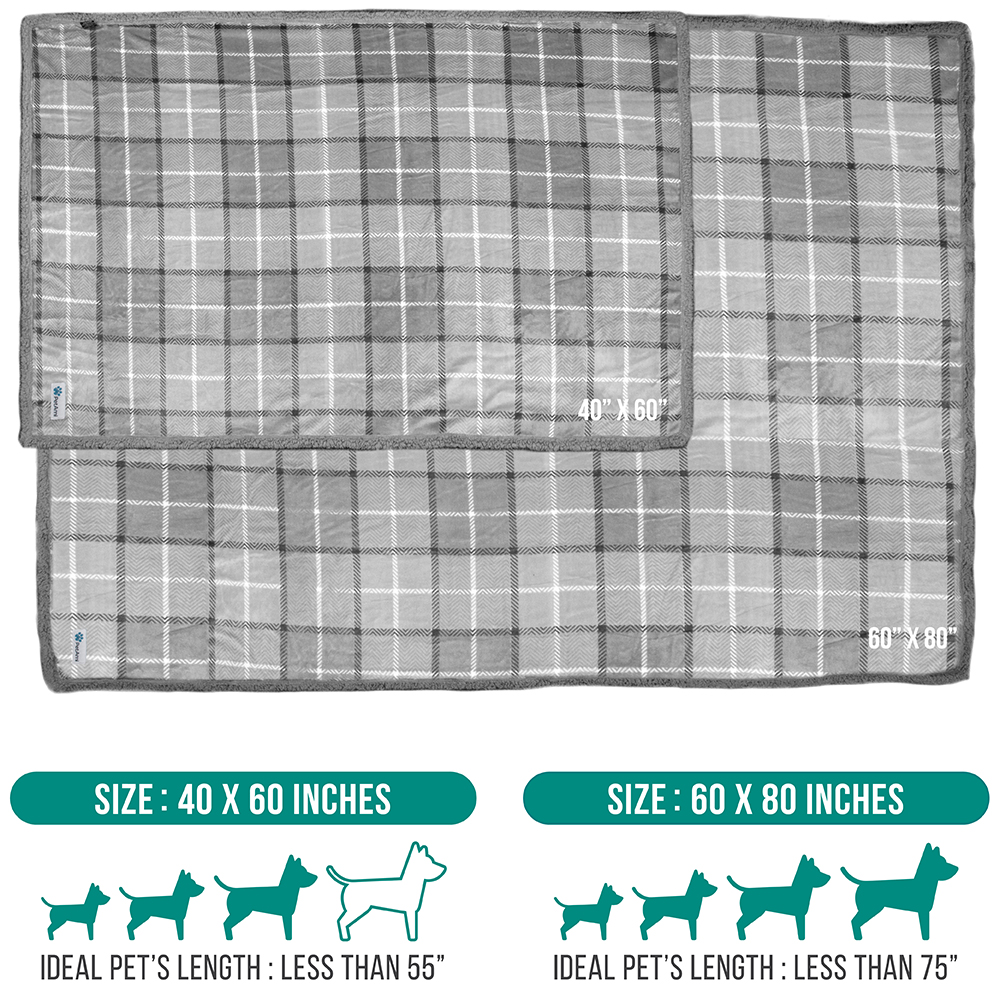 thumbnail 55 - Dog Blanket for Medium Large Dogs Pet Soft Fleece Durable Warm Sherpa Reversible