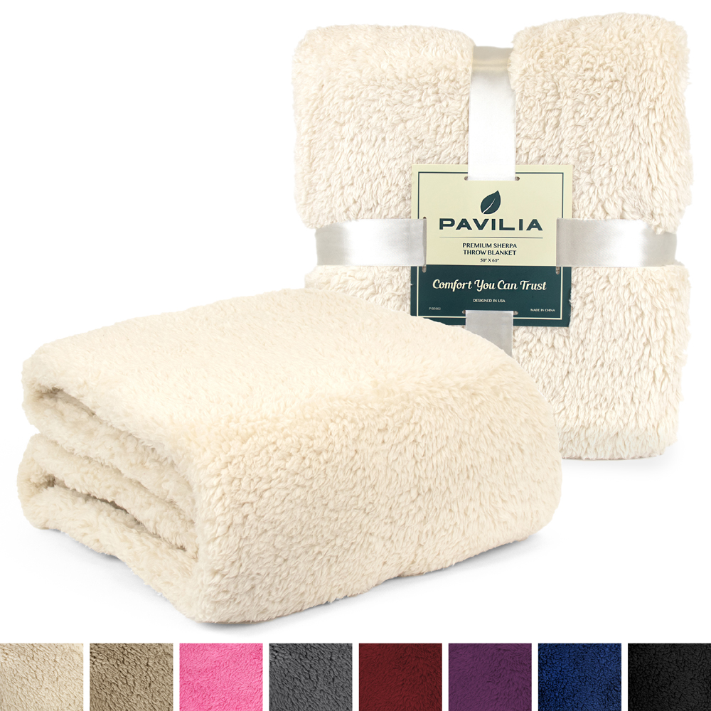 Soft-Fuzzy-Warm-Cozy-Throw-Blanket-with-Fluffy-Sherpa-Fleece-for-Sofa-Couch-Bed thumbnail 39